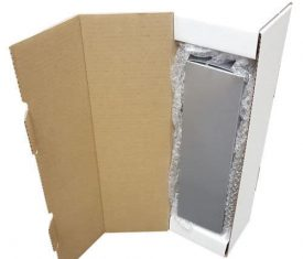 Silver Wine Champagne Bottle Gift Present Postal Shipping Mailing Boxes Qty 10