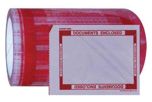1 Roll of 330 Printed Documents Enclosed 114mm x 200mm Packing Wallets Envelopes