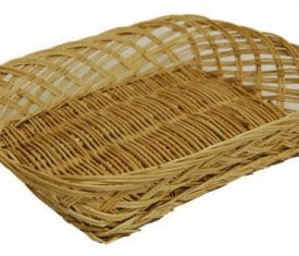 1 Small Wicker Willow Hamper Fruit Flower Gift Tray Basket 250mm x 200mm x 50mm