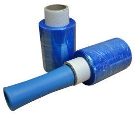 100mm x 150m x 15mu Blue Mini Hand Pallet Stretch Wrap 10 Rolls plus Dispenser
