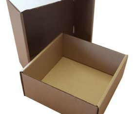 190mm x 190mm x 90mm Brown Small Parcel Two Part Cardboard Postal Boxes