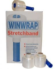 2-Rolls-90mm-x-300m-Clear-Mini-Pallet-Cling-Film-Stretch-Wrap-with-Dispenser-141196357064