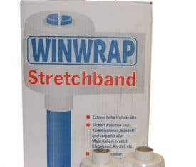 2 Rolls 90mm x 300m Clear Mini Pallet Cling Film Stretch Wrap with Dispenser
