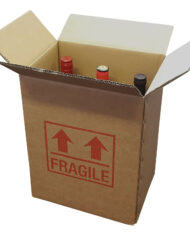 5-Strong-Cardboard-6-Bottle-Wine-Boxes-275mm-x-190mm-x-335mm-Printed-Fragile-163603397024