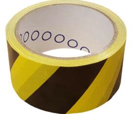 50mm x 33m Black and Yellow PVC Floor Lane Marking Hazard Warning Tape