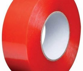 50mm x 50m Double Sided Industrial Polyester Tape Solvent Blend Adhesive