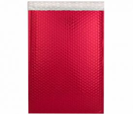 Box Quantity Various Sizes RED Gloss Metallic Bubble Bag Mailers Envelopes