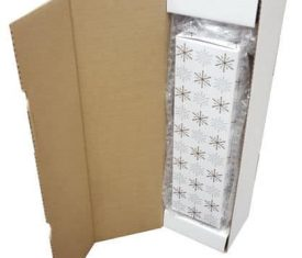 Snowflake Wine Champagne Bottle Gift Present Postal Shipping Mailing Box Qty 10