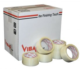 Vibac Clear Hot Melt Polypropylene Adhesive Tape 48mm x 66m Qty 36