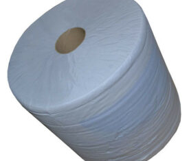1 Ply 200mm x 300m Blue Centre Feed Smooth Perforated Wipers Paper Towels