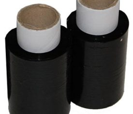 100mm x 150m x 17mu Black Mini Hand Pallet Wrap Stretch Film 2 Rolls