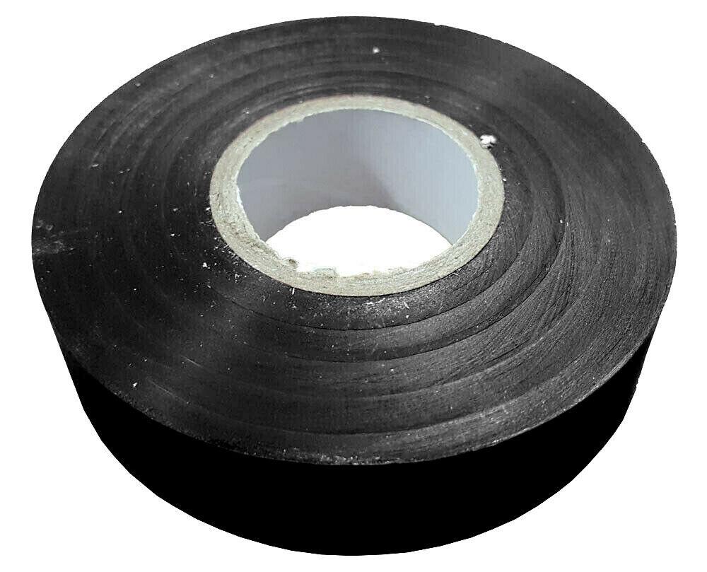 19mm x 33m Black Flame Retardant Electrical PVC Tape Qty 1 Roll