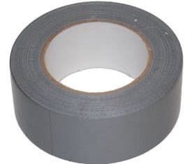 2 Rolls 50mm x 50m Silver Gaffer Gaffa Waterproof Duct Duck Cloth Adhesive Tape