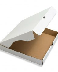 240mm-x-240mm-x-50mm-Pizza-Style-White-Corrugated-Cardboard-Postal-Boxes-Qty-100-164030945215