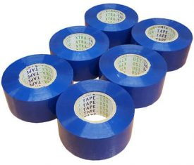 48mm x 150m Extra Long Blue Parcel Sealing Packing Tape Cellotape Qty 6 Rolls