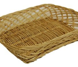 5 Medium Wicker Willow Hamper Flower Gift Tray Basket 300mm x 230mm x 70mm