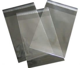 Adhesive Strip Self Seal Bags Poly Polythene Plastic Plain Transparent 13 Sizes
