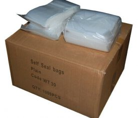 Heavy Duty Strong Plain Resealable Polythene Grip Seal Bags 300 Gauge 75 Micron