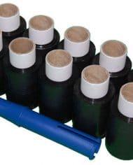 10-Rolls-100mm-x-150m-x-17mu-Black-Mini-Hand-Pallet-Stretch-Wrap-FREE-Dispenser-140610453796