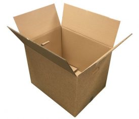"""24"""" x 18"""" x 18"""" Large Strong Double Wall Moving Storage Boxed with Handles x 5"""