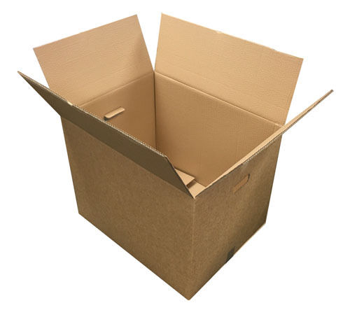 """24 x 18 x 18 Large Strong Double Wall Moving Storage Boxed with Handles x 5 163250011296 - 24"""" x 18"""" x 18"""" Large Strong Double Wall Moving Storage Boxed with Handles x 5"""