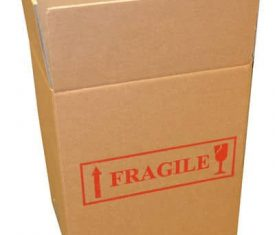310mm Double Wall Fragile Printed Cardboard Boxes Moving Storage Posting Qty 5