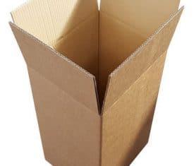 340mm x 285mm x 560mm Sturdy Stitched Stapled Moving Storage Boxes Qty 5