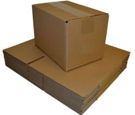 380mm x 260mm x 300mm Single Wall Brown Cardboard Postal Mailing Box Boxes