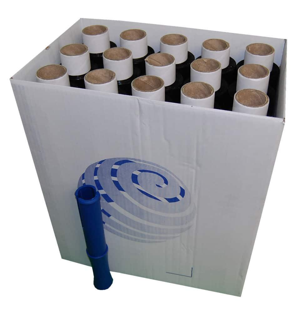 40 Rolls 100mm x 150m x 17mu Black Mini Hand Pallet Stretch Wrap FREE Dispenser 140610462506 - 40 Rolls 100mm x 150m x 17mu Black Mini Hand Pallet Stretch Wrap FREE Dispenser