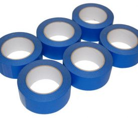 6 Rolls 50mm x 50m Blue UV Resistant Painters Decorating Masking Tape