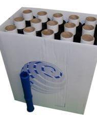 80-Rolls-100mm-x-150m-x-17mu-Black-Mini-Hand-Pallet-Stretch-Wrap-FREE-DISPENSER-132770012816