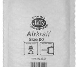 Box of 100 White Jiffy Airkraft Bubble Envelopes Size 00 115mm x 195mm 163681493546 275x235 - Box of 100 White Jiffy Airkraft Bubble Envelopes Size 00 115mm x 195mm
