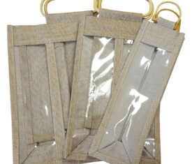 Jute Wine Bottle Bags 3 Sizes available in Single Double or Triple