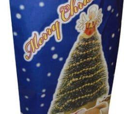 Large Blue Christmas Xmas Festive Gift Paper Present Santa Sack Bag qty 10