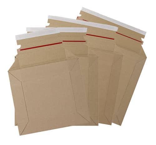 Strong Rigid Corrugated Cardboard Maxi Capacity Booker Mailers Boxes of 100 163476049776 - Strong Rigid Corrugated Cardboard Maxi Capacity Booker Mailers Boxes of 100