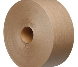Tegrabond 70mm x 100m Brown Water Activated Reinforced Packing Tape 16 Rolls