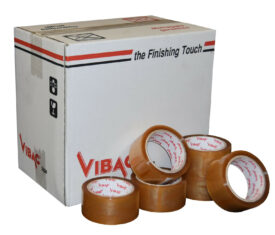 Vibac Clear Solvent Polypropylene Adhesive Tape 48mm x 66m Qty 36