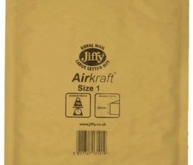 100 Small Gold Jiffy Bubble Lined Bags Envelopes JL1 170mm x 245mm