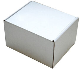 160mm x 150mm x 75mm White Small Parcel Die Cut Postal Mailing Shipping Boxes