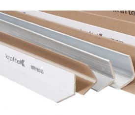 50 White 1000mm x 35mm x 35mm x 3mm Moisture Resistant Edge Boards Protectors