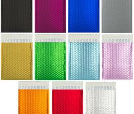 Box Quantity Metallic Bubble Bag Mailers Envelopes Range of Sizes and Colours 163493484517 275x235 - Box Quantity Metallic Bubble Bag Mailers Envelopes Range of Sizes and Colours