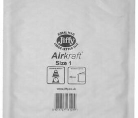 Box of 100 White Jiffy Airkraft Bubble Envelopes Size 1 170mm x 245mm 133046078467 275x235 - Box of 100 White Jiffy Airkraft Bubble Envelopes Size 1 170mm x 245mm