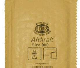 Box of 150 Gold Jiffy Airkraft Bubble Envelopes Size 000 90mm x 145mm 133045997917 275x235 - Box of 150 Gold Jiffy Airkraft Bubble Envelopes Size 000 90mm x 145mm