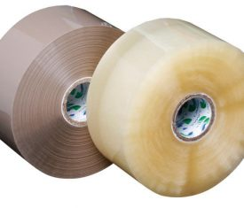 Low Noise Umax Clear & Buff Brown Packing Adhesive Tape Roll Qty 36