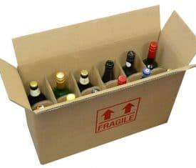 Strong DW Cardboard 12 Bottle Wine Storage Postal Boxes 540 x 190 x 350mm Qty 25