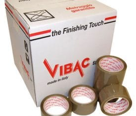 Vibac Hot Melt Buff Poly Parcel Packing Packaging Tape 66m x 48mm Qty 36