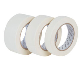White General Purpose Masking Tape Painting Decorating Residue Free 50m Rolls