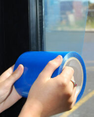 100mm-x-100m-Self-Adhesive-Blue-Glass-Window-Protector-Film-Roll-UV-Protection-143468684328