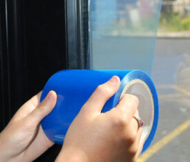 100mm x 100m Self Adhesive Blue Glass Window Protector Film Roll UV Protection
