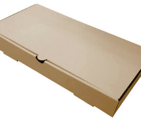 "12"" x 6"" x 2"" Plain Brown Fish and Chips Chippy Takeout Takeaway Die Cut Boxes"